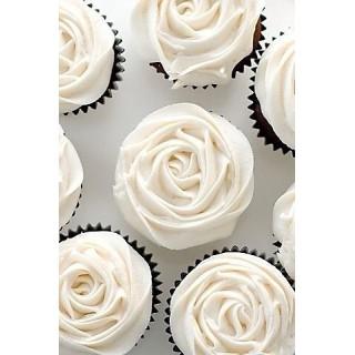 КП 44 Маффины белые розы