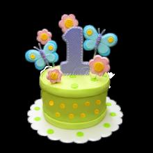 СМ 711 Торт на годик зеленый