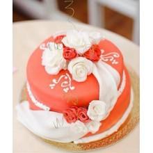 СВ 418 Торт свадебный с розами