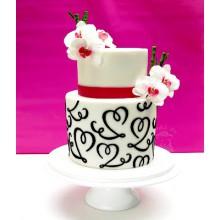 СВ 009 Торт стильный свадебный