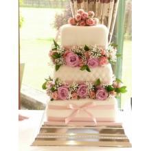БСВ 005 Торт Свадебный красивые цветы