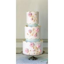 СВ 006 Торт свадебный нежные цветы