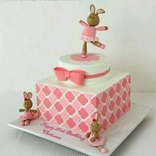 ДТ 005 Торт милые зайчики