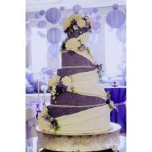 БСВ 213 Торт большой свадебный фиолетовый