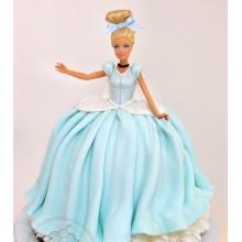 ДТ 002 Торт барби в голубом платье