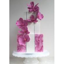 БСВ 223 Торт свадебный фиолетовые цветы