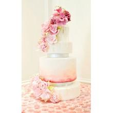 БСВ 009 Торт свадебный много цветов