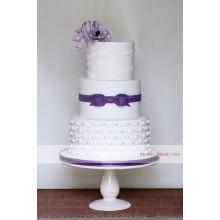 СВ 331 Торт свадебный с фиолетовым бантом