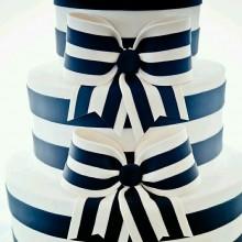 СВ 211 Торт свадебный полосатый