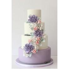 БСВ 553 Торт свадебный с нежными цветочками