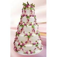 БСВ 333 Торт свадебный цветочный