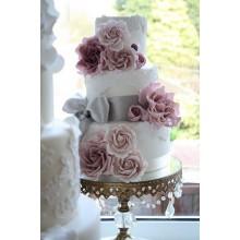 БСВ 011 Торт свадебный  красивый с цветами