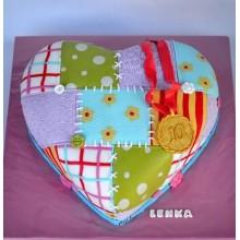 РМ 355 Торт апликация в виде сердца