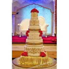 БСВ 008 Торт свадебный в восточном стиле