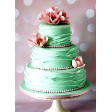 СВ 064 Торт мятно-бирюзовый свадебный