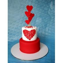 РМ 054 Торт с сердечками