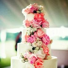 БСВ 006 Торт свадебный с цветами