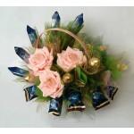 """Букет из конфет """"Вдохновение с персиковыми розами"""""""