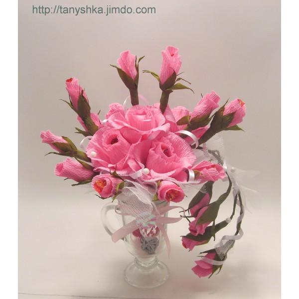 Бутоны розы из ткани своими руками мастер класс