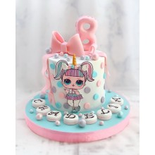Торт кукла лол