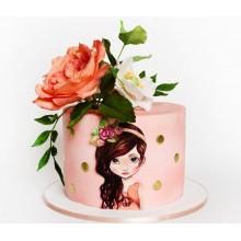 Стильный торт для девушек