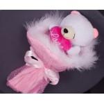 БИ18 Букет розовый мишка