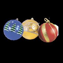 Игрушки для елки с рисунком