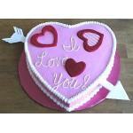 РМ 014 Торт в форме сердца розовый
