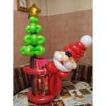 ФШ 5 Фигурка из шариков Санта с елочкой