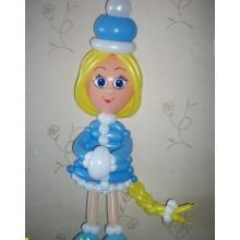 ФШ 4 Фигурка из шариков  Стройная снегурочка