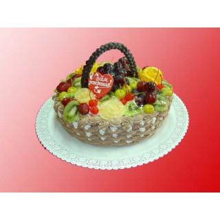 ФРТ 3 Торт корзина с настояшими фруктами