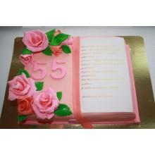 ПР 9 Торт книга розовая