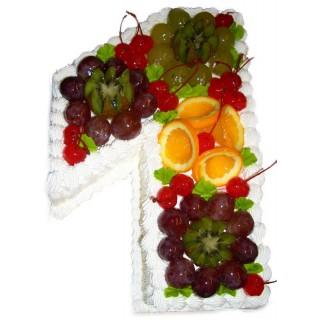 ФРТ 5 Торт на годик с фруктами