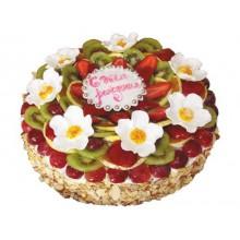 ФРТ 7 Торт с цветочками и фруктами