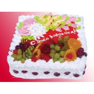 ФРТ 2 Торт с днем рождения с фруктами