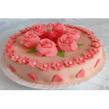 "АТ 10 Торт со скидкой ""Торт с цветами"""