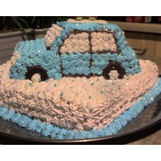 ПР 239 Торт в виде машинны (голубая)