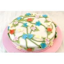 "АТ 15 Торт со скидкой ""Веселые цветочки"""