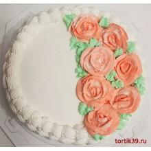 """АТ 12 Торт со скидкой """"Скромные цветы"""""""