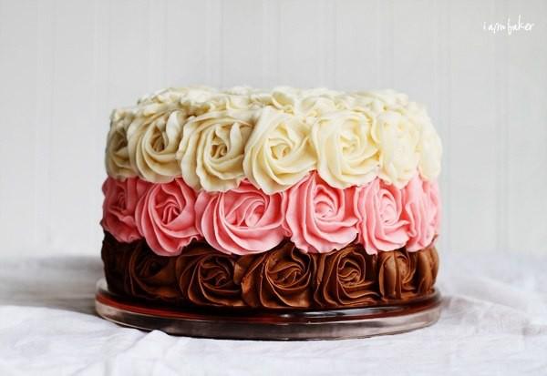 Торты с розами фото