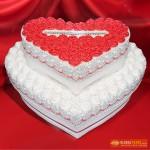 РМ 119 Торт двухярустное сердце в цветах