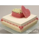 РМ 101 Торт двухярустный сердце -шкатулка