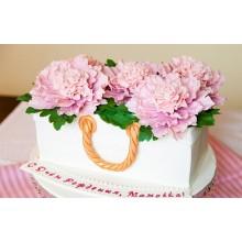 Торт нежные цветы в сумочке