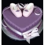 ДТ 230 Торт с пинетками в фиолетовом цвете