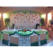 Оформление праздника в бело- зеленом цвете
