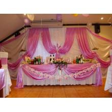 Оформление праздника в розовом цвете