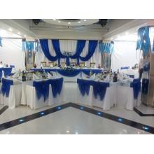 Оформление праздника в синем цвете