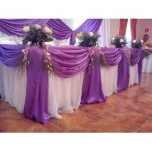Оформление праздника в фиолетовом цвете