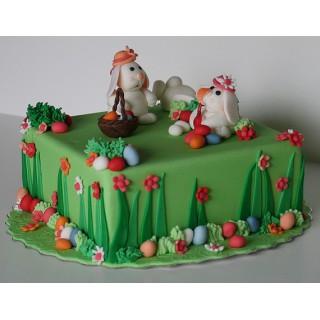 П-19 Торт на пасху с зайцами