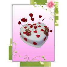 ПР 024 Торт с сердечками